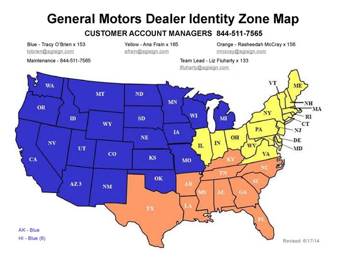 General Motors Dealership Identification Program